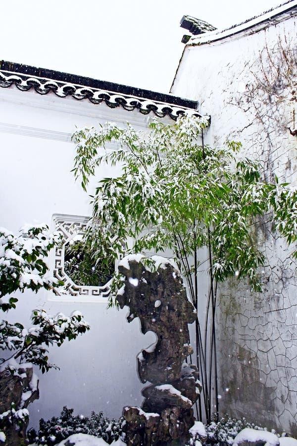 Dr. Klassischer chinesischer Garten Sun Yat-sens im Winter lizenzfreie stockfotografie