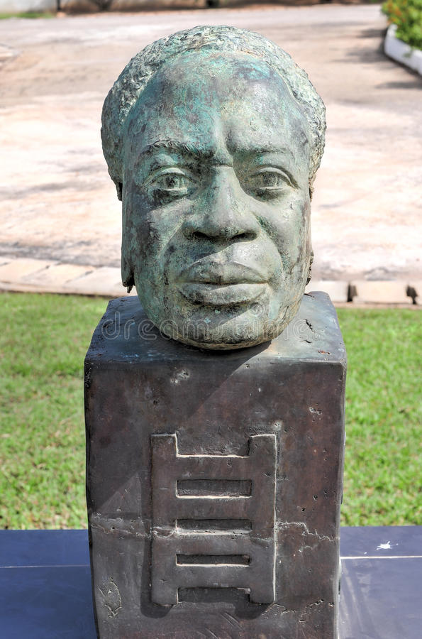 Dr. Kwame Nkrumah Bust - Accra, Ghana royalty free stock photography