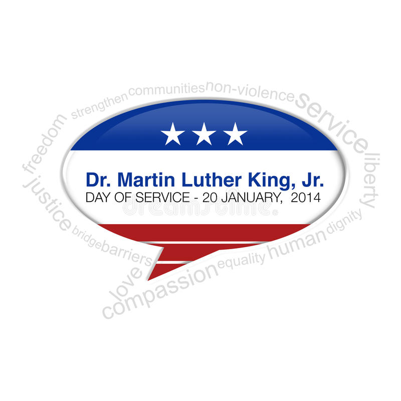 Dr. Martin Luther King Jr Jour - 20 janvier 2014 illustration libre de droits