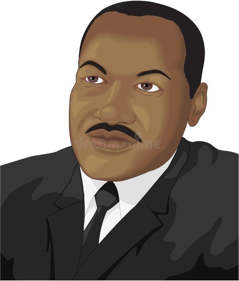 Dr. Martin Luther King Jr. Vector Illustration stock illustration