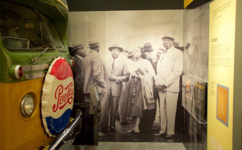 Dr. Martin Luther King-tentoongesteld voorwerp binnen het Nationale Burgerrechtenmuseum in Lorraine Motel royalty-vrije stock foto
