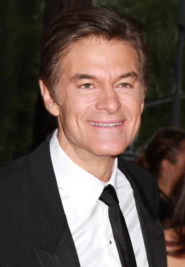 Dr. Mehmet Oz. Television personality and cardiothoracic surgeon, Dr. Mehmet Oz, arrives on the red carpet outside the Time Warner Center in New York City for stock photos