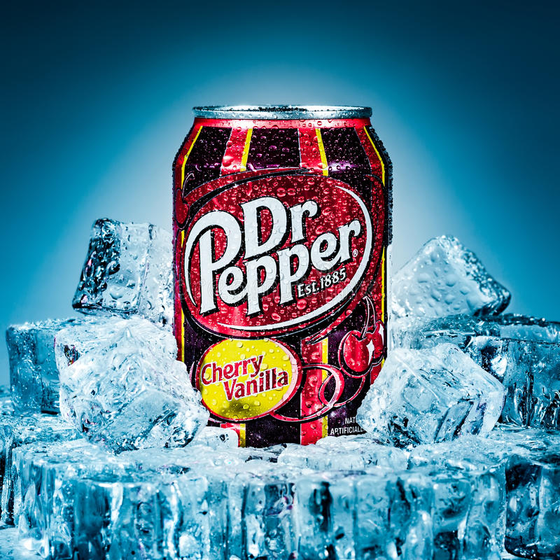 Dr. Pepper Cherry Vanilla imagens de stock royalty free