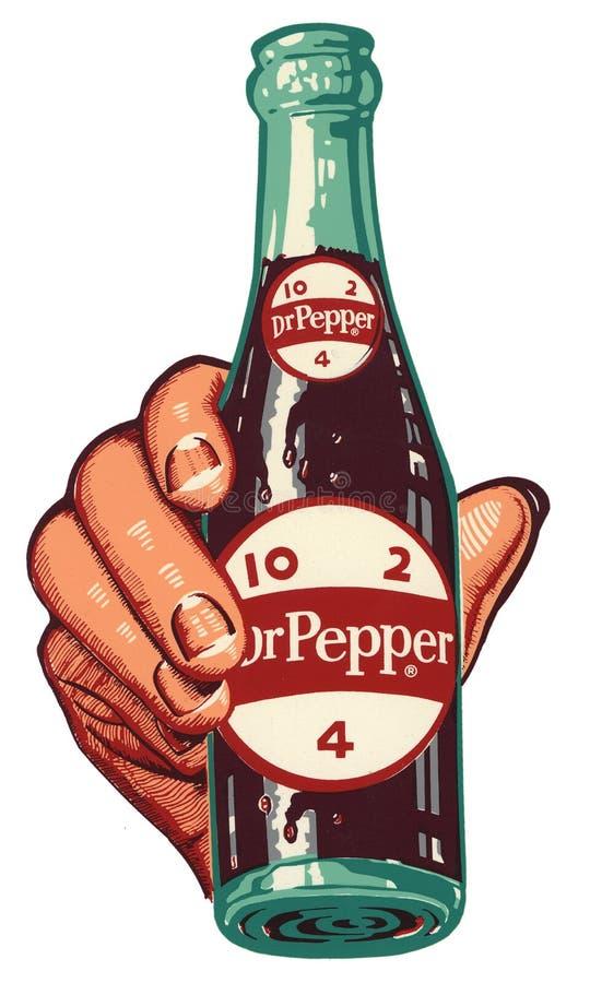 Dr. Pepper Logo Vintage Hand 10 2 4 royalty-vrije illustratie