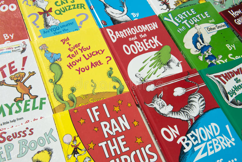 Dr. Suess Children Books. Dr. Seuss children books. The author created a unique series of characters and art stock photography