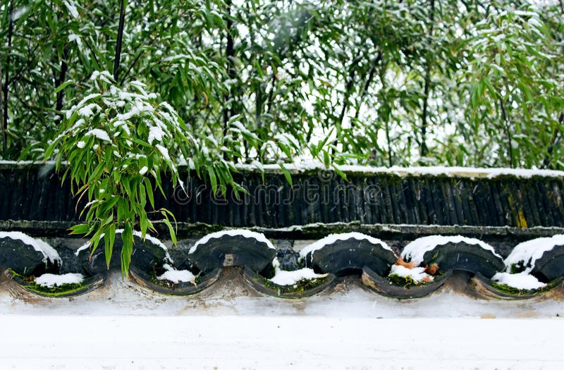 Dr. Sun Yat-Sen Classical Chinese Garden in winter stock photography