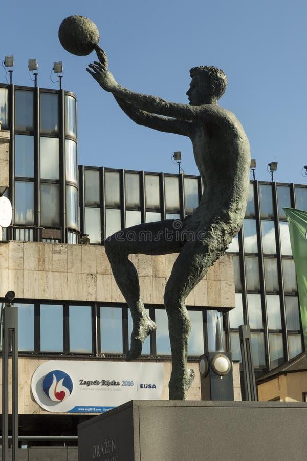 Dražen Petrović monument in Zagreb, Croatia stock photography