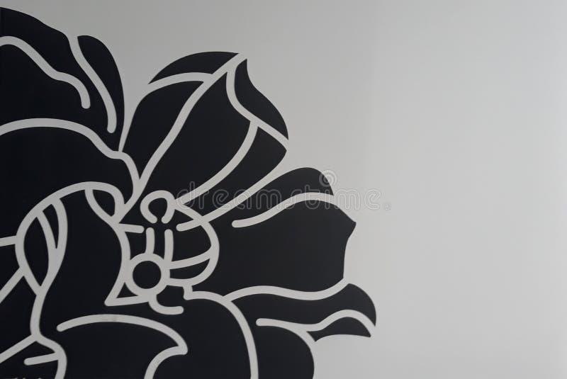 Dra av en svart blomma stock illustrationer