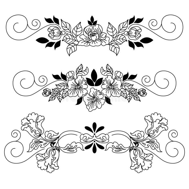 Dra blommakaraktärsteckning royaltyfri illustrationer