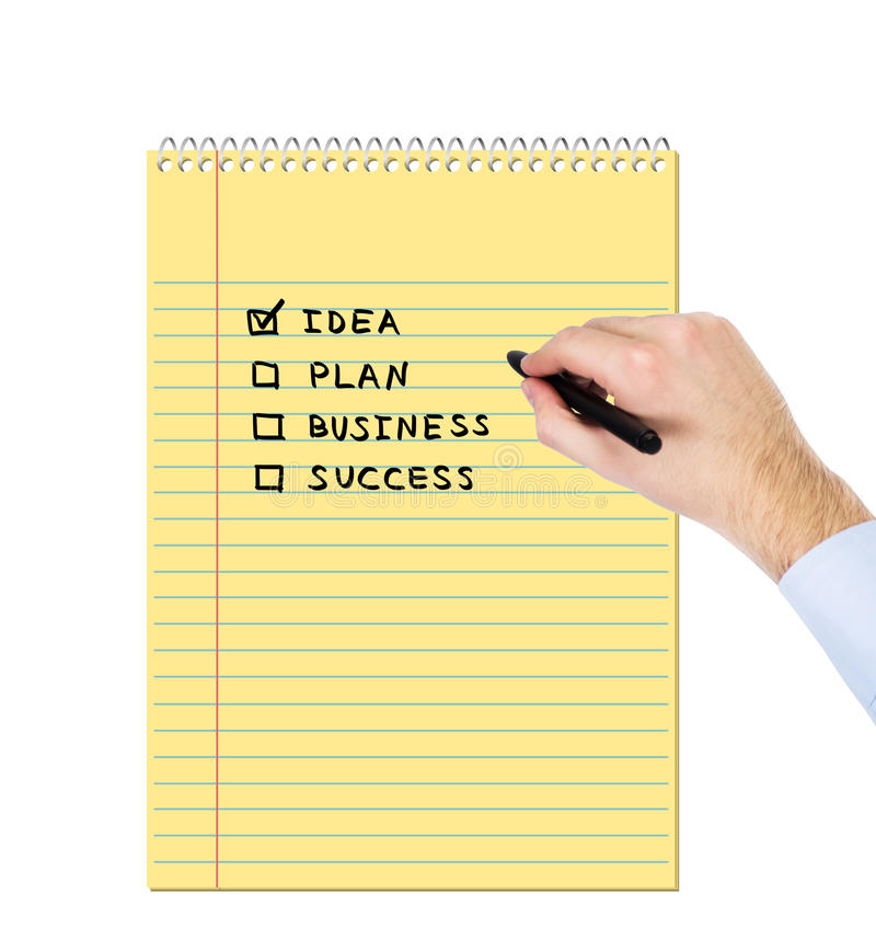 Dra för hand som är businessplan royaltyfri foto