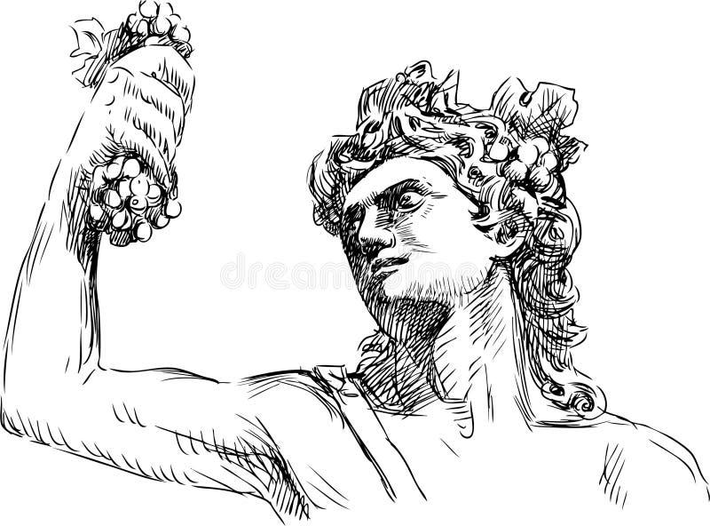 Dionysus stock illustrationer