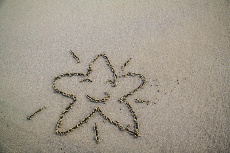 Dra i stranden royaltyfria foton