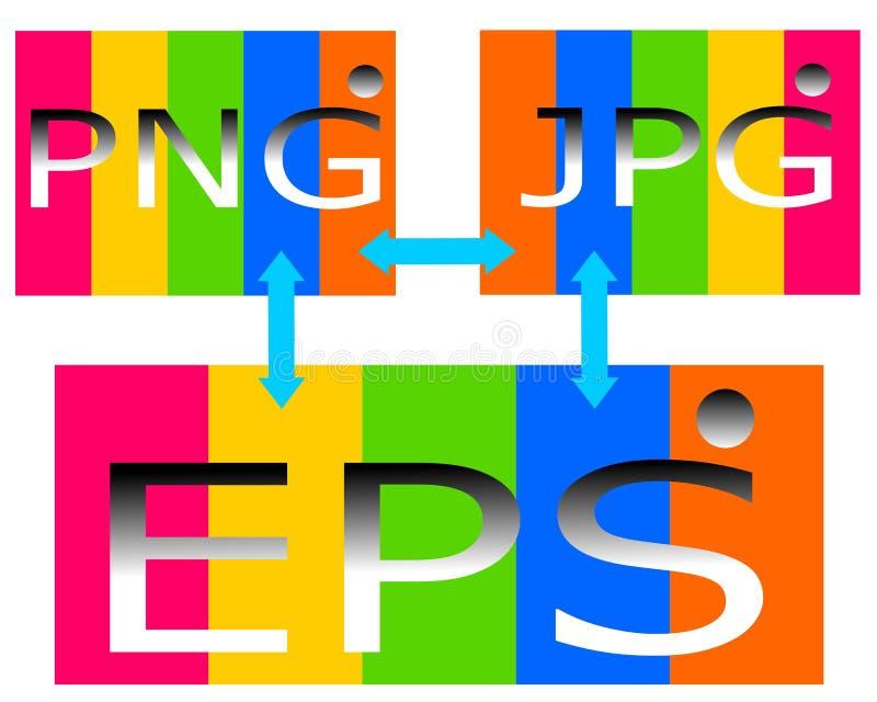 Dra logo av mappen för png-jpgeps vektor illustrationer
