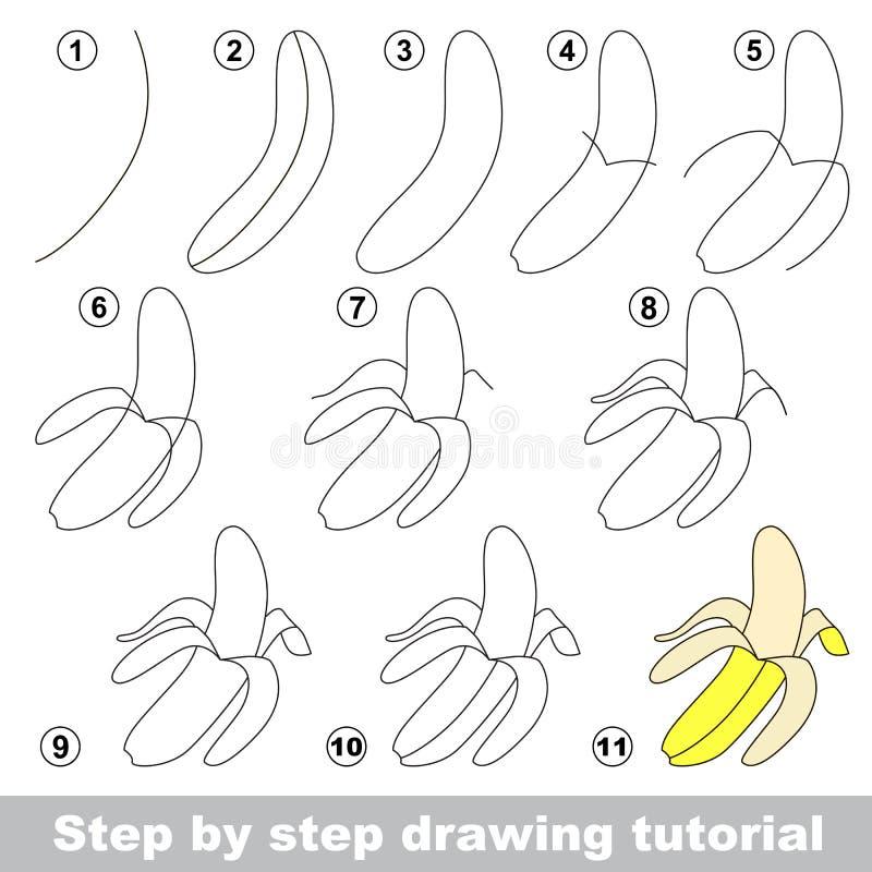 Dra som är orubbligt banan vektor illustrationer