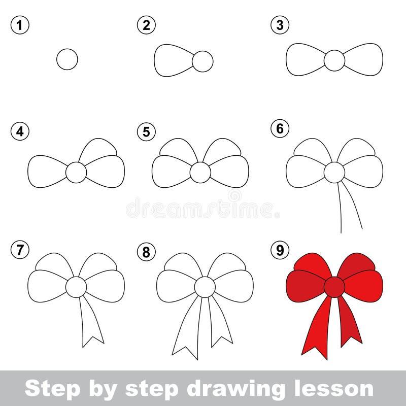 Dra som är orubbligt Hur man drar en pilbåge vektor illustrationer