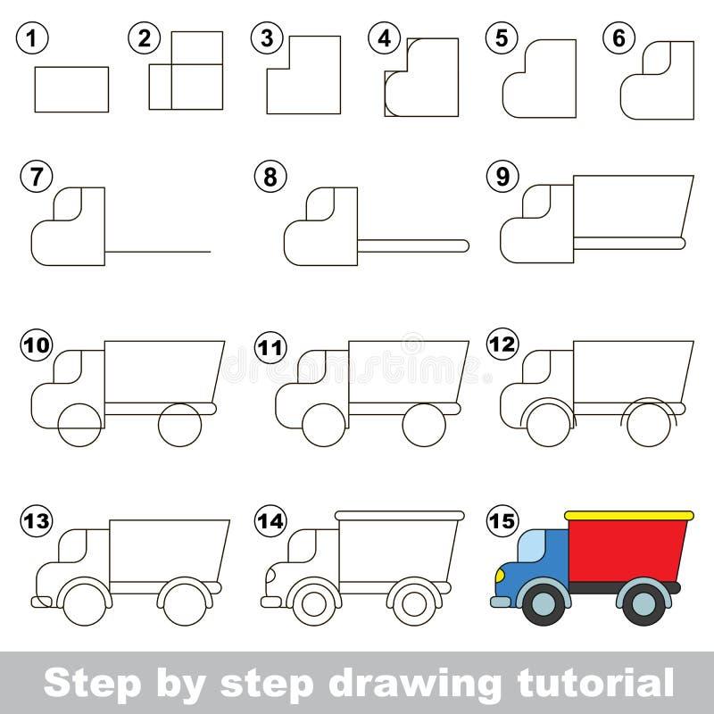 Dra som är orubbligt Lek för lastbil royaltyfri illustrationer