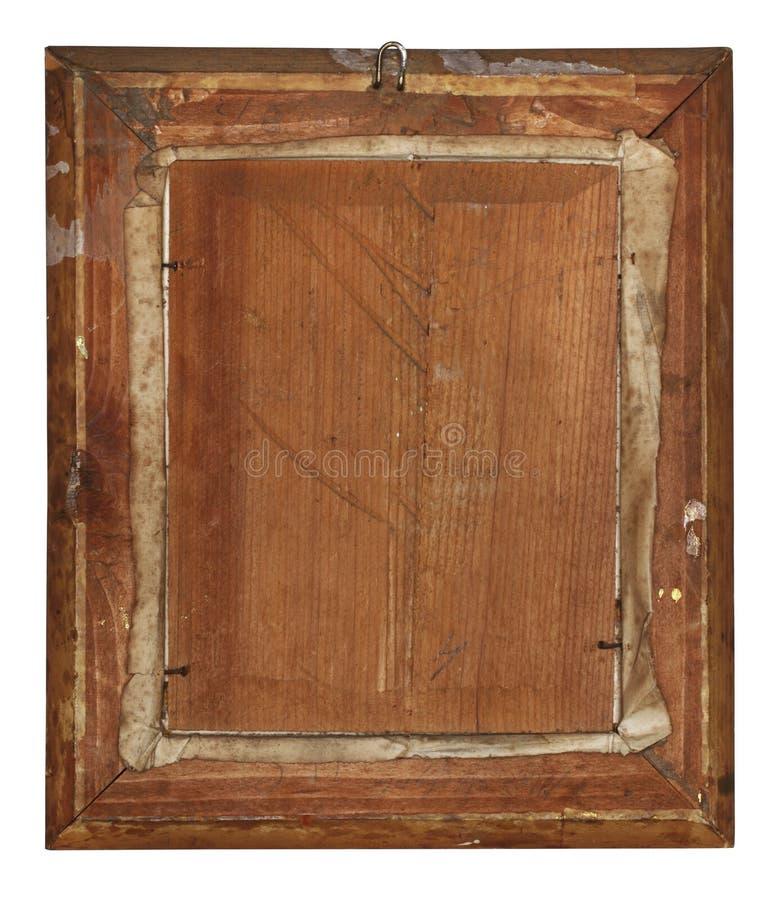 Dra tillbaka av gammal wood ram royaltyfria foton