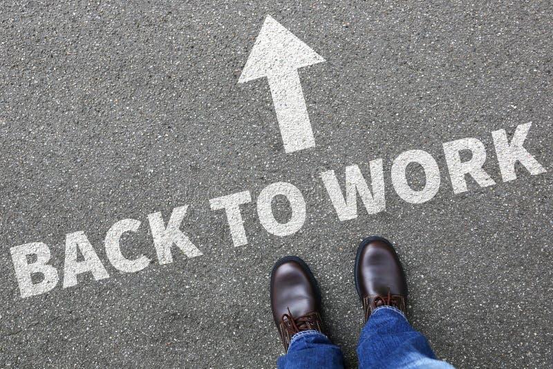 Dra tillbaka för att arbeta busine för arbetslös för ferier för arbetesemesterferie fotografering för bildbyråer