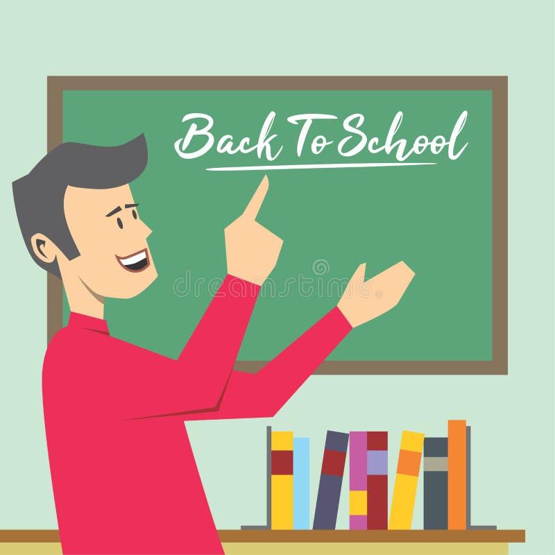 dra tillbaka till skolagrabbar! vektor illustrationer