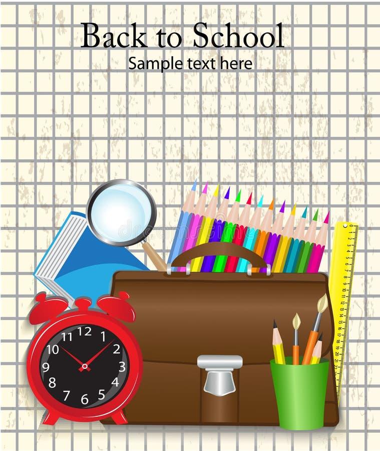 Dra tillbaka till skolan stock illustrationer