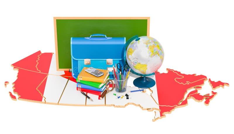 Dra tillbaka till skolan eller utbildning i det Kanada begreppet, tolkningen 3D stock illustrationer
