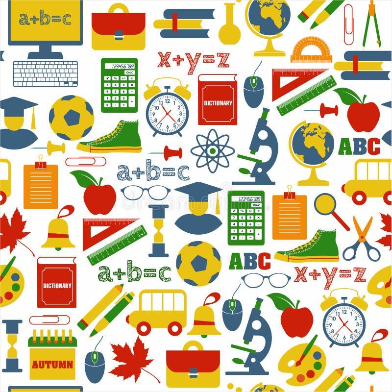 Dra tillbaka till skolan! Vektorillustration stock illustrationer