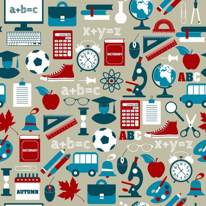 Dra tillbaka till skolan! Vektorillustration vektor illustrationer