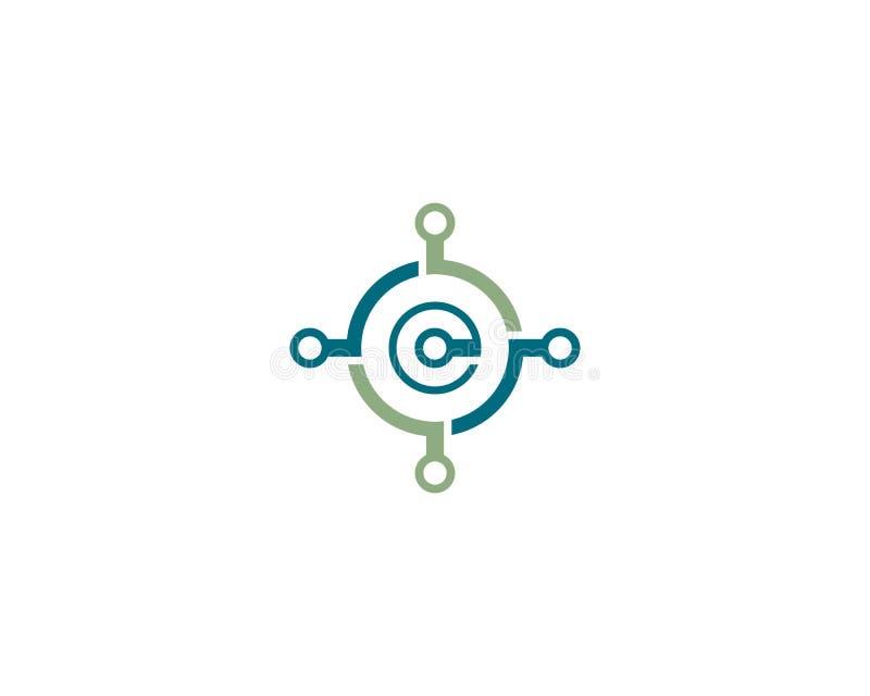 Draad, het pictogram van het kabelembleem vector illustratie
