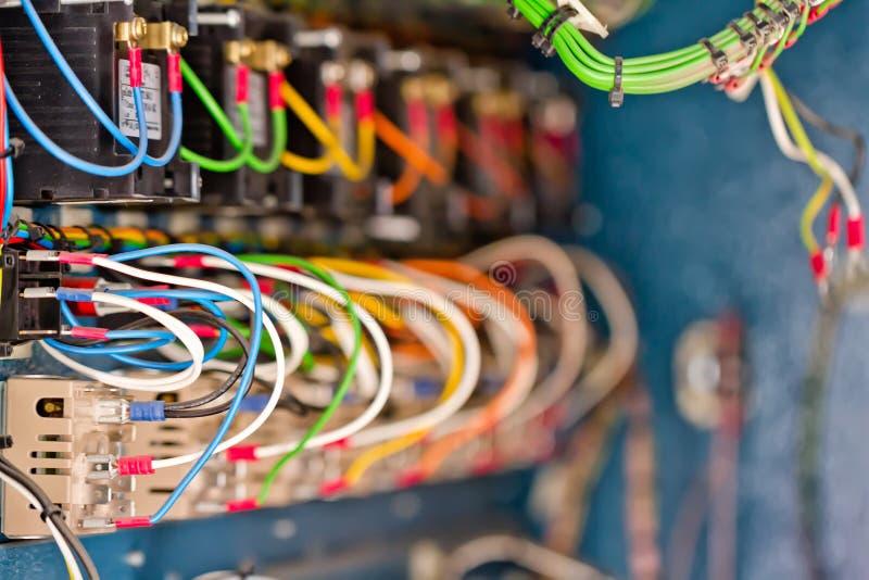 Draad, terminals, transistors en condensatoren royalty-vrije stock foto's