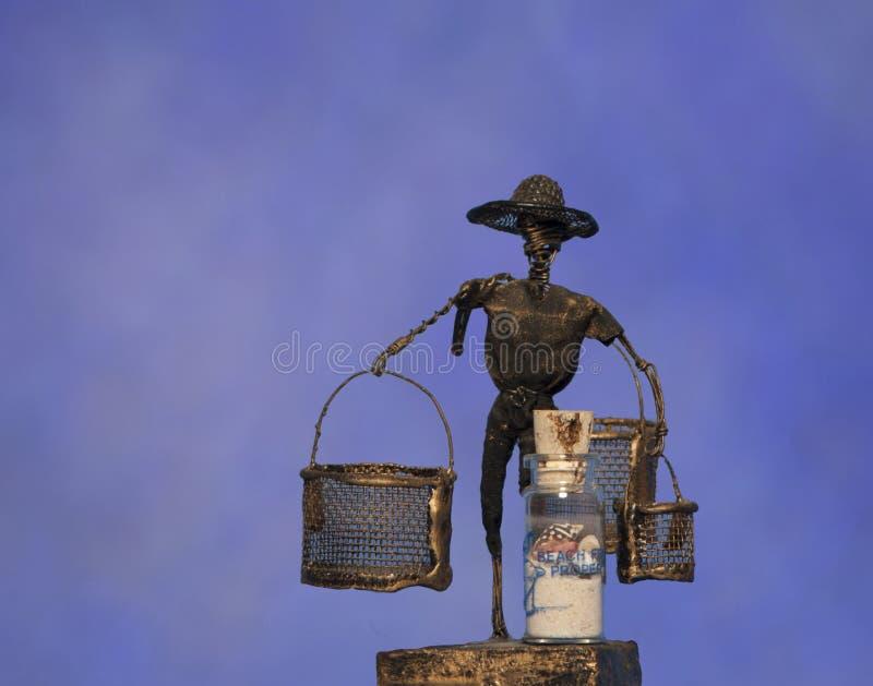 Draadbeeld van de mens stock afbeelding