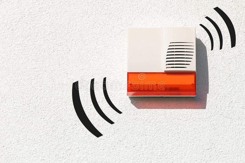 Draadloos alarmsysteem royalty-vrije stock foto
