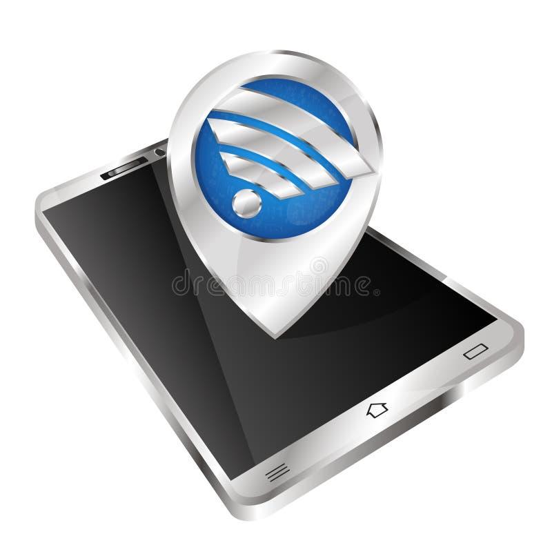 Draadloos Internet in een smartphone vector illustratie