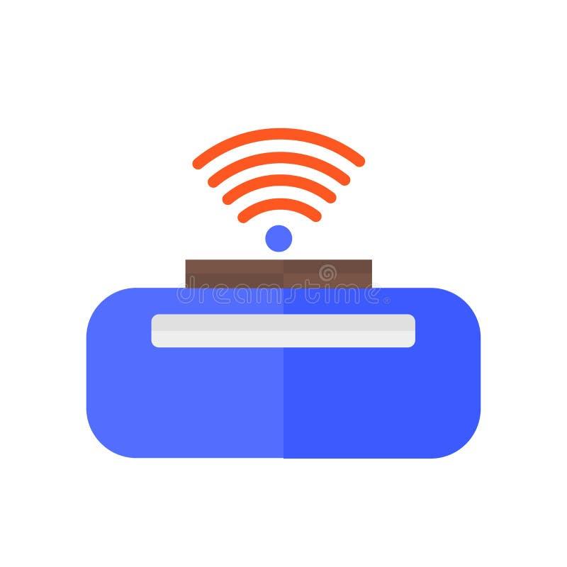 Draadloos Internet-pictogram vectordieteken en symbool op witte achtergrond, Draadloos Internet-embleemconcept wordt geïsoleerd stock illustratie