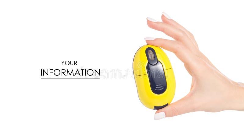 Download Draadloos Muis In Hand Patroon Stock Foto - Afbeelding bestaande uit toebehoren, klik: 114228344
