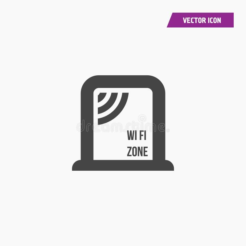 Draadloos Netwerkpictogram WiFi-streek Draadloos Netwerkpictogram vector illustratie