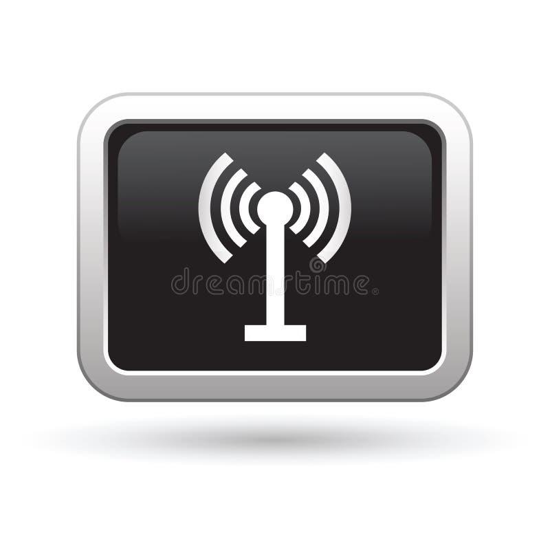 Draadloos pictogram op de knoop vector illustratie