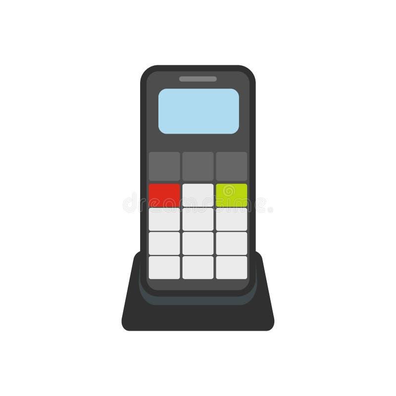 Draadloos telefoon vlak pictogram royalty-vrije illustratie