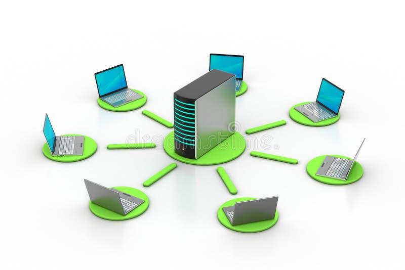 Draadloos voorzien van een netwerksysteem vector illustratie
