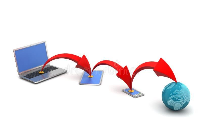 Draadloos voorzien van een netwerksysteem stock illustratie