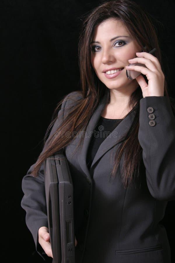 Download Draadloos werkend meisje stock foto. Afbeelding bestaande uit gelukkig - 31554