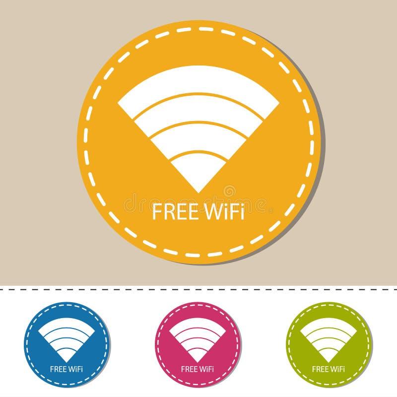 Draadloos Wlan Internet het Signaal Vlak Pictogram van WiFi voor Apps of Website stock illustratie