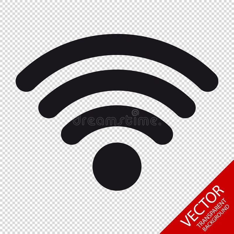 Draadloos Wlan Internet het Signaal Vlak Pictogram van WiFi voor Apps of Websites stock illustratie
