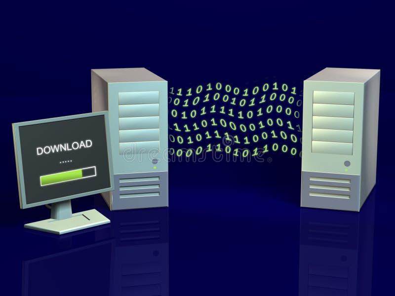 Draadloze computers stock illustratie