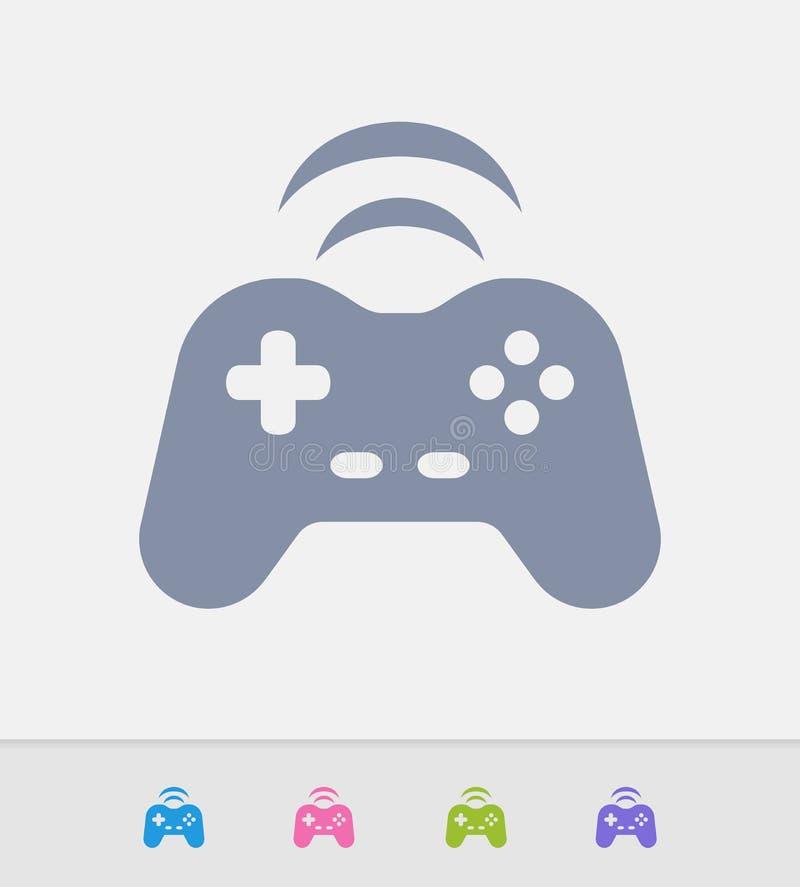 Draadloze Gamepad - Granietpictogrammen royalty-vrije illustratie