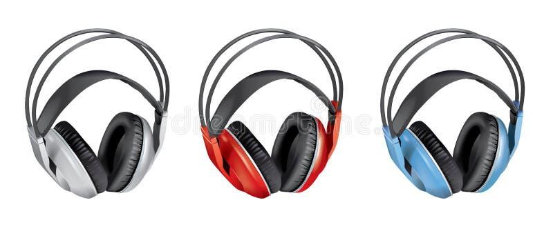 Draadloze oortelefoons stock illustratie