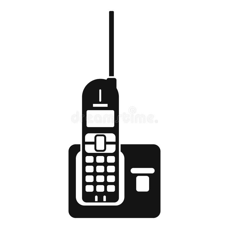 Draadloze telefoon met antenne royalty-vrije illustratie
