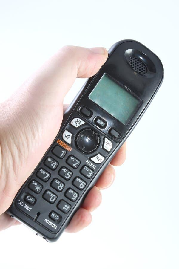 Draadloze telefoon ter beschikking royalty-vrije stock afbeelding