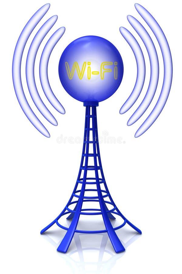 Draadloze toren. vector illustratie