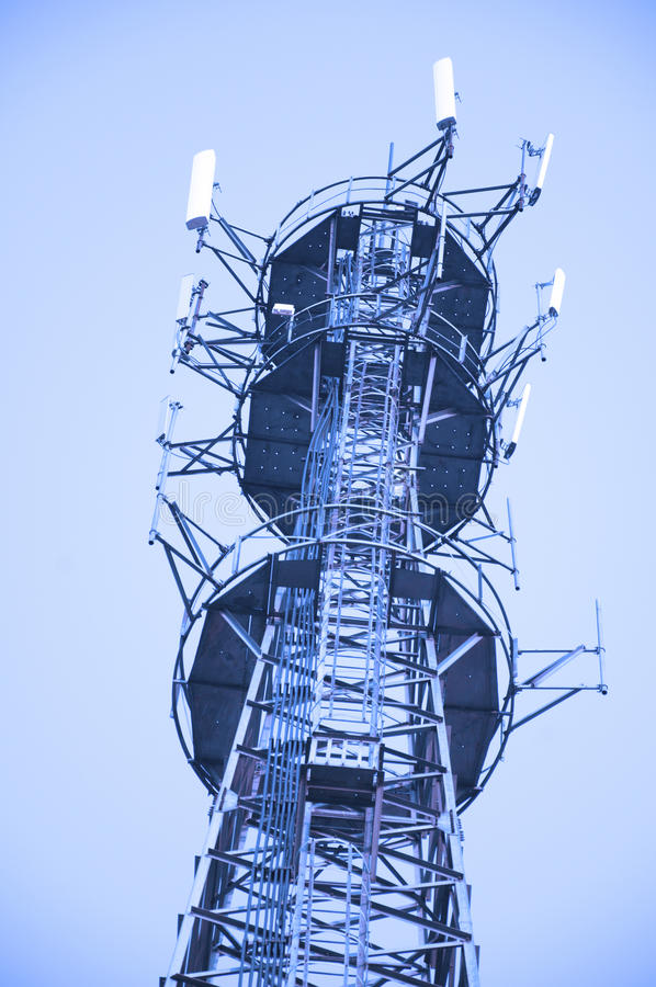 Draadloze toren stock foto's