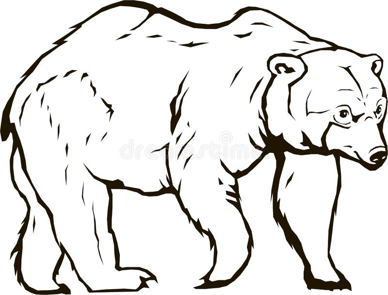 Draag blackbear vector royalty-vrije illustratie